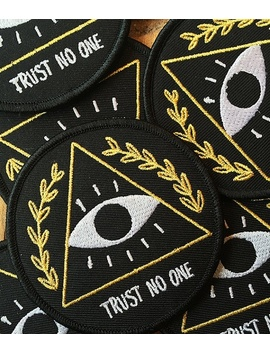 diy-trust-no-one-patch-embroidered-applique-sew-iron-on-patch-badge by wish