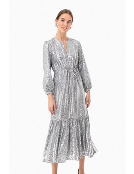 Silver Sequin Frances Dress by Emerson Fry