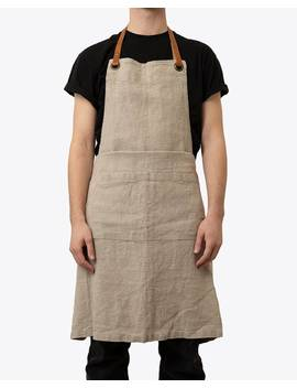 Linen Tales Natural  Luxury Apron by Nisolo