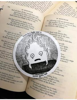 there-is-a-light-and-it-never-goes-out-vinyl-sticker--calcifer-laptop-sticker by etsy