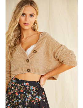 chenille-cropped-cardigan by forever-21