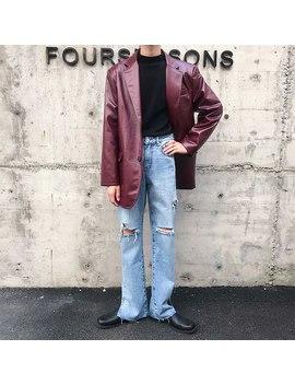 men-vintage-streetwear-loose-casual-leather-suit-jacket-blazer-male-faux-fur-jacket-outerwear-coat by aliexpresscom