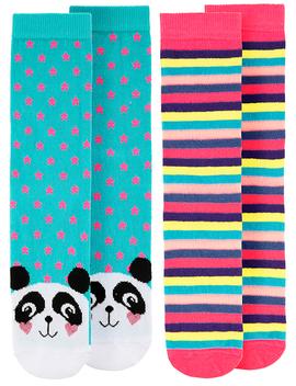 2pk-novelty-panda-socks by accessorize