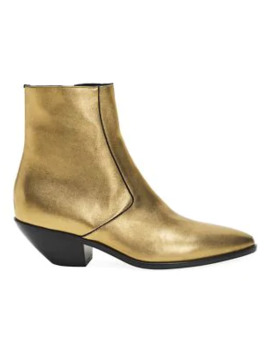 west-metallic-leather-ankle-boots by saint-laurent