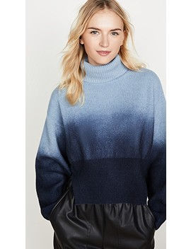 blue-long-sleeve-cropped-turtleneck by cedric-charlier