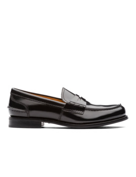 Polished Fumè Loafer Black by Church's Footwear