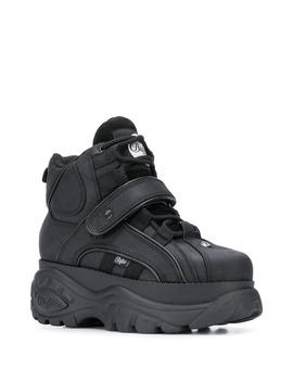 Platform High Top Sneakers In Black by Buffalo