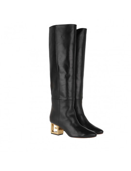 G Heel Boots Leather Black by Givenchy