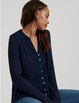 Drop Needle Woven Mix Top by Lucky Brand
