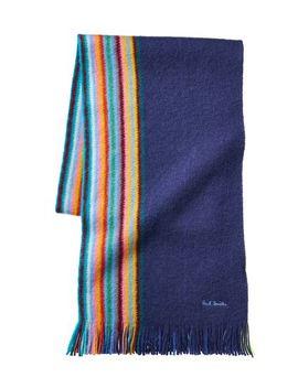 Striped Wool Scarf by Paul Smith Striped Wool Scarf