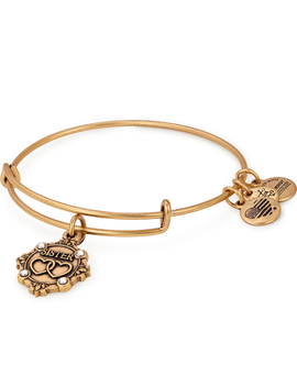 Sister Because I Love You Charm Bangle Rafaelian Gold by Alex And Ani