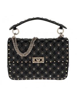 Rockstud Shoulder Bag Black by Valentino