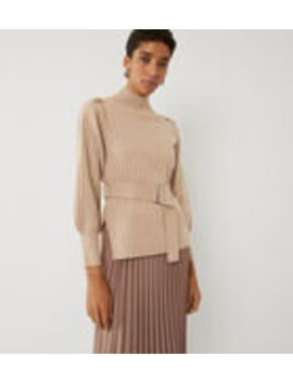 Wide Rib Belted Jumper by Warehouse