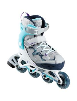 Oxelo Fit 3 Kids' Fitness Skates   Turquoise by Oxelo