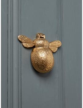 Solid Brass Bumble Bee Door Knocker by Cox & Cox