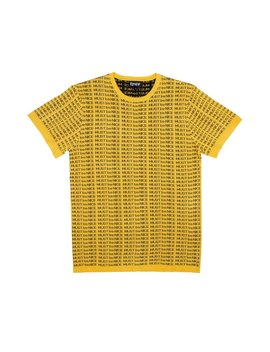 Mbn Lines Knit Tee (Gold) by Ripndip