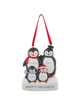 4 Penguin Family Ornament by Things Remembered
