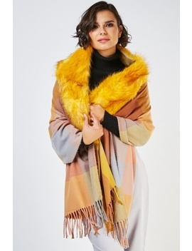 Faux Fur Insert Scarf by Everything5 Pounds