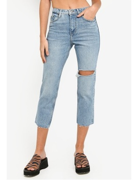 Bleach Straight Jeans by Topshop