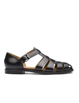 Nevada Leather Sandal Black by Church's Footwear