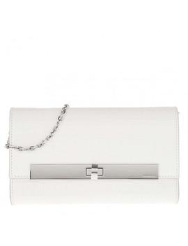 Ara Croco Handle Bag Blanche by Coccinelle