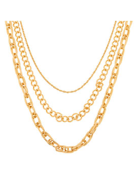 Gold Chain Multi Strand Necklace by Claire's