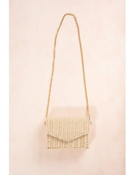 Eliza Straw Envelope Crossbody Bag by Morning Lavender