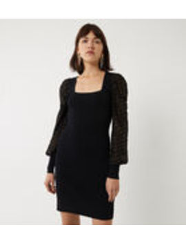 Spot Puff Sleeve Mini Dress by Warehouse