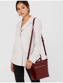 Mini Yolanda Patent Tote Bag by Accessorize