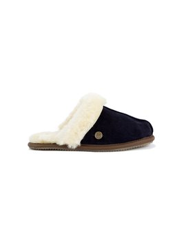 Navy Sheepskin Slippers by Mahi Leather