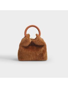 Madeleine Bag In Caramel Shearling by Elleme