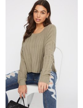 Ribbed Boxy Sweater by Urban Planet