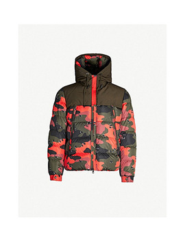 Eymeric Camouflage Print Shell And Down Blend Jacket by Moncler