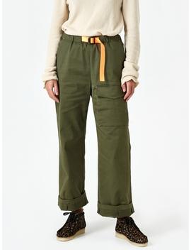 Colour Pointed Webbing Belt Pant   Artichoke Green by Neul