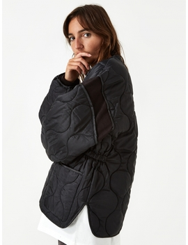 Collarless Liner Jacket   Black by Stand Alone