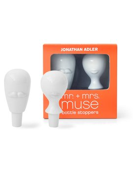 Mr Mrs Muse Bottle Stopper Set Mr Mrs Muse Bottle Stopper Set by Jonathan Adler