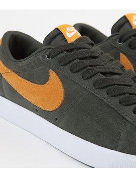 Nike Sb Blazer Low Gt Shoes   Sequoia / Kumquat   White   Gum Light Brown by Nike Sb