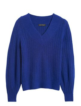 Aire Ribbed V Neck Sweater by Banana Republic