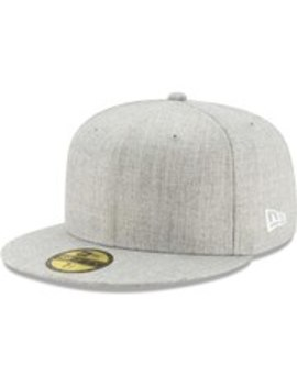 New Era Blank 59 Fifty Fitted Hat – Heathered Gray by New Era