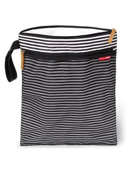 Skip Hop Grab & Go Wet/Dry Bag Black & White Stripe by Well