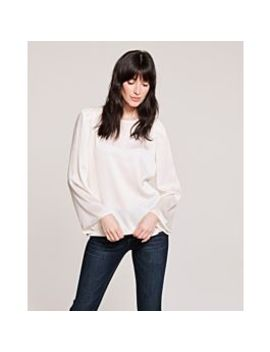 Satin Bell Sleeve Blouse by Vince Camuto
