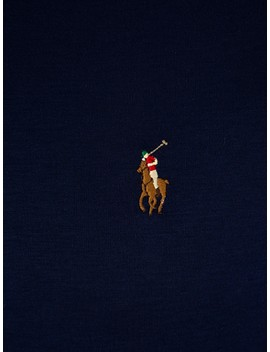 Polo Ralph Lauren Navy Custom Slim Fit Interlock Tee by Polo Ralph Lauren