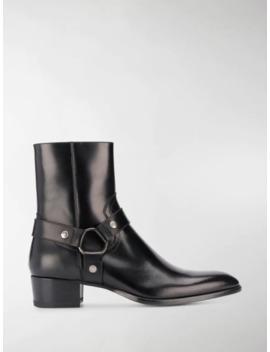 Wyatt Harness Boots by Saint Laurent