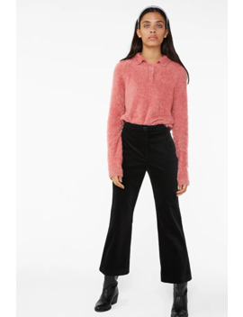 Cropped Velvet Trousers by Monki
