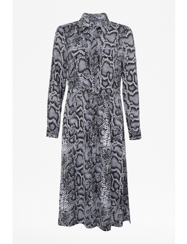 Snake Print Shirt Dress by French Connection