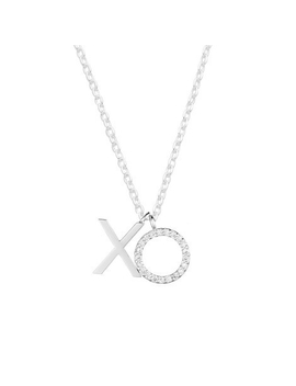 Pave Xo Silver Plated Necklace Pave Xo Silver Plated Necklace by Estella Bartlett