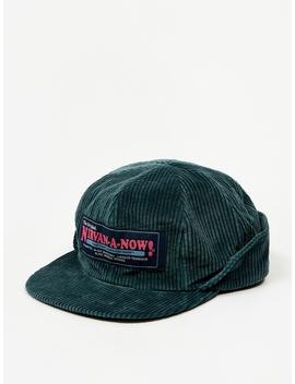 Corduroy Flap Cap   Dark Green by Black Weirdos