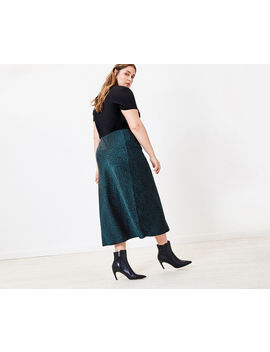 Curve Mixed Animal Skirt* by Oasis