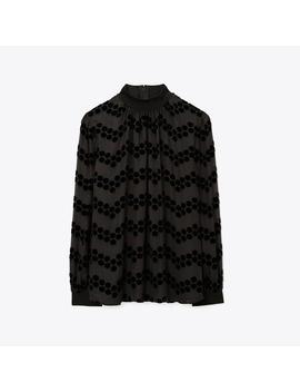 Velvet DevorÉ Dot Embroidered Top by Tory Burch