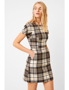 Plaid Crew Neck Dress by French Connection